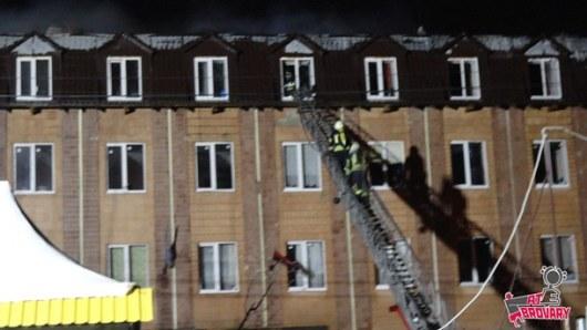 ВБроварах горело общежитие, людей эвакуировали